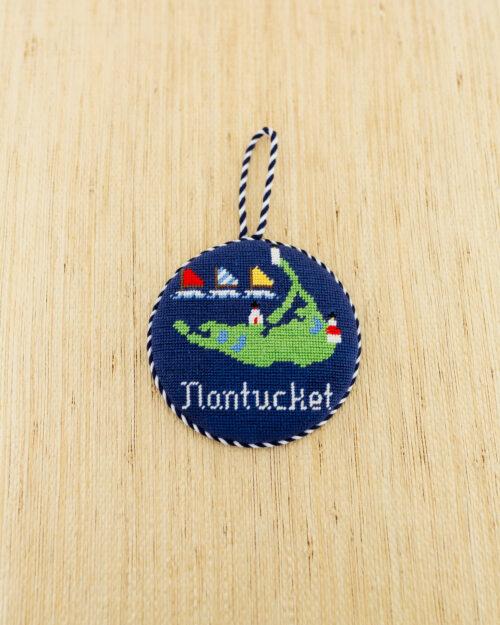 nantucket needlepoint ornament