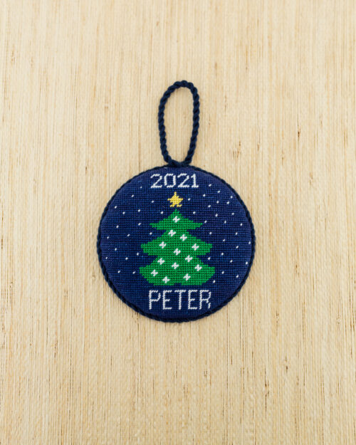 personalized needlepoint christmas ornament