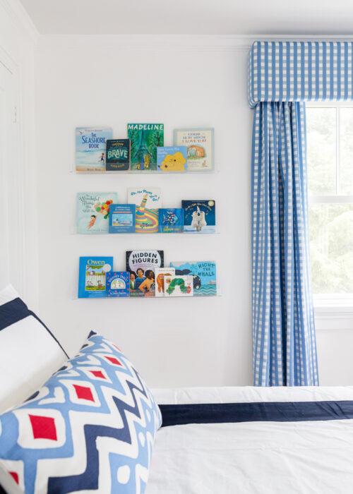 acrylic bookshelves in nursery