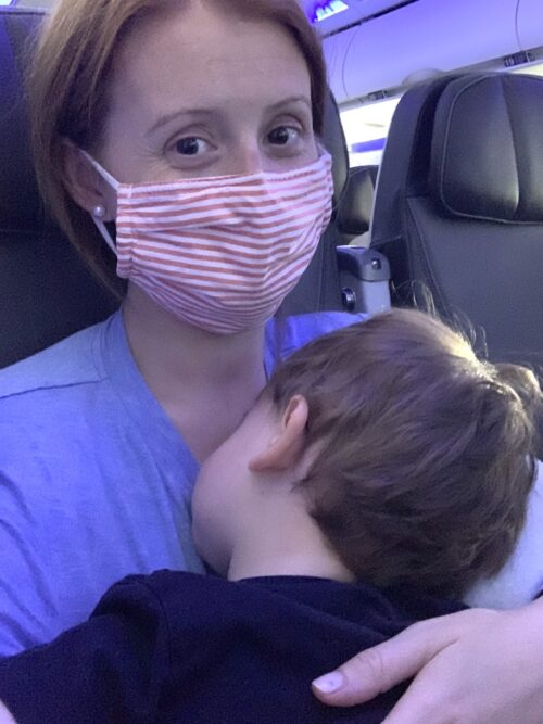 flying with two kids under two