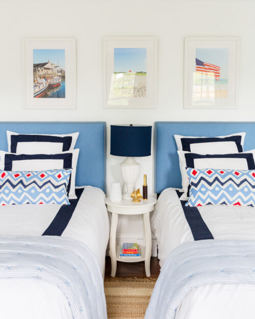 red white and blue boy's bedroom