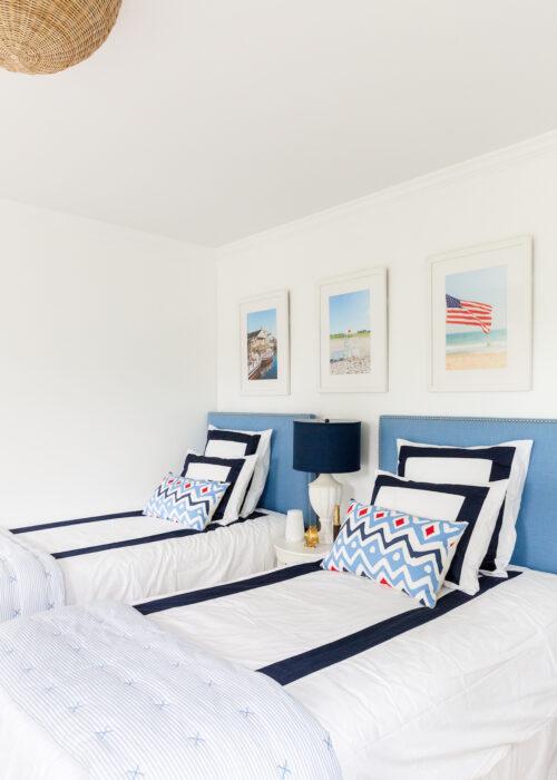 serena & lily beach club border duvet in boys' bedroom