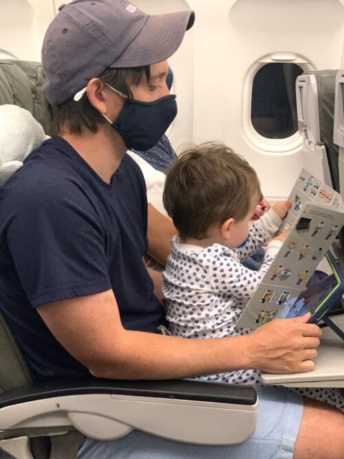 tips for flying with two under two