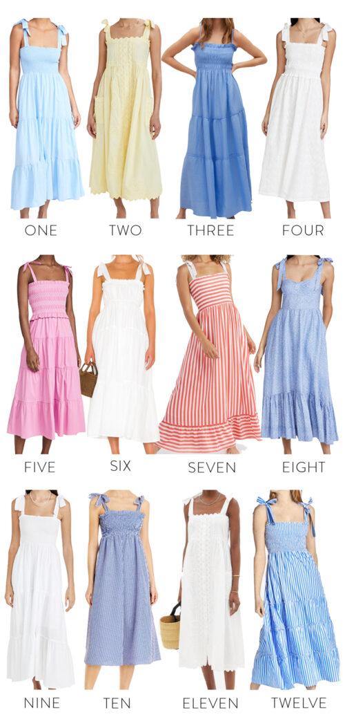 12 tie shoulder dresses 2021