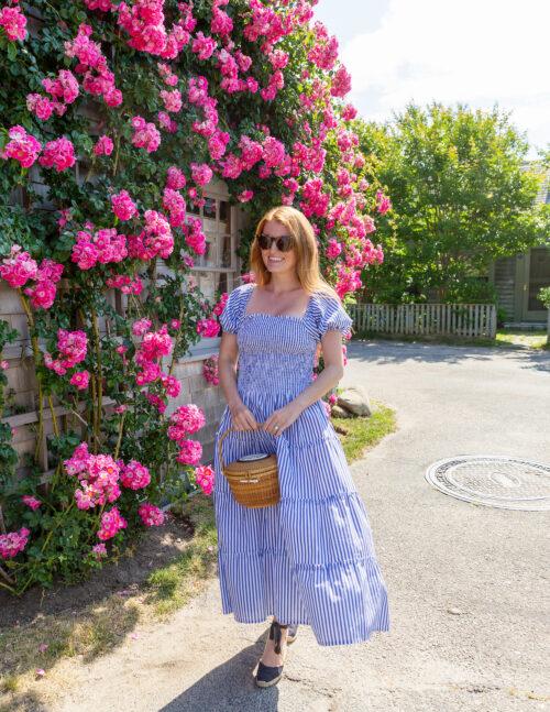 design darling maxwell & geraldine kate smocked blue and white stripe dress