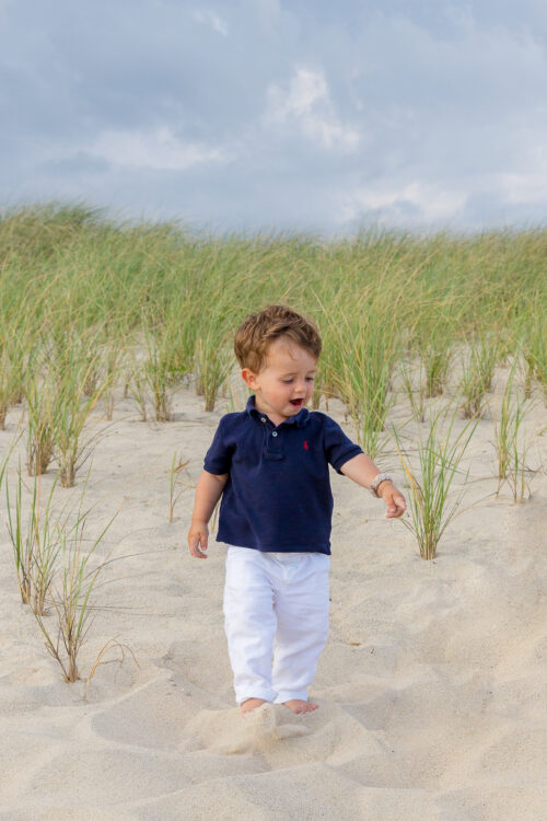 janie and jack white linen pull-on pant with navy polo shirt
