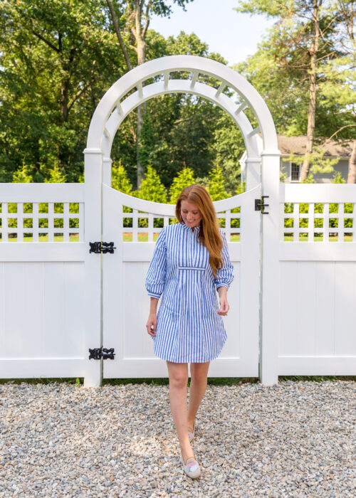 mille indio tunic in blue stripe on design darling