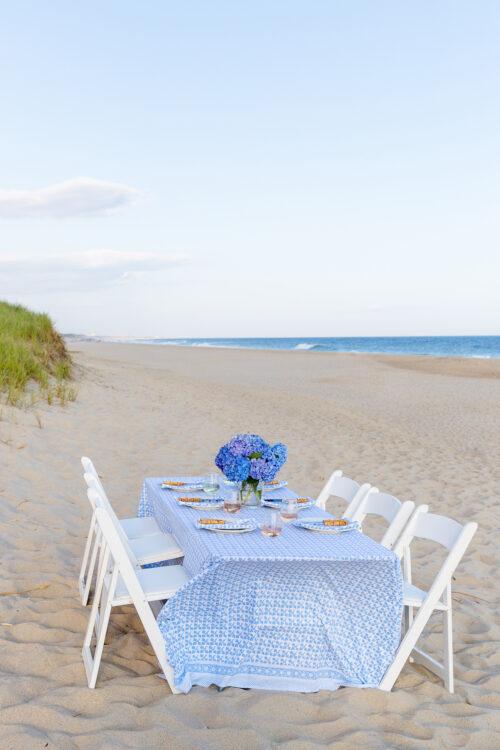 nantucket beach dinner julia amory big sky tablecloth