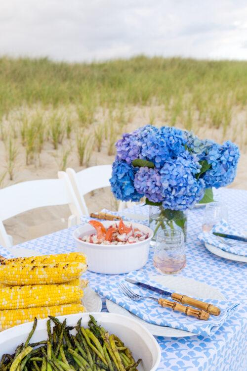 nantucket beach dinner party
