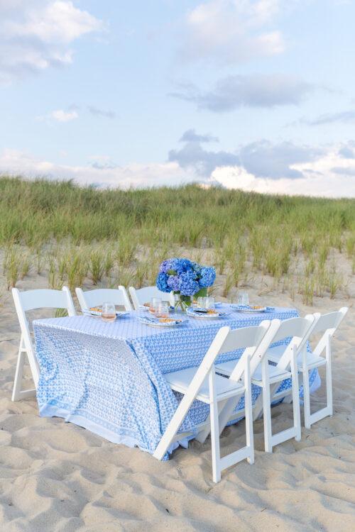 nantucket beach dinner party julia amory big sky tablecloth