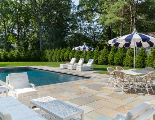 serena & lily eastport striped umbrella and ballard designs miles redd bermuda outdoor furniture in design darling backyard