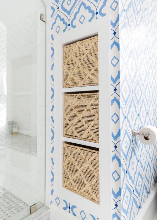 container store trellis maize storage cubes and thibaut bungalow wallpaper