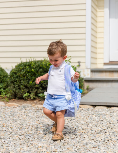 first day of preschool outfit trvl design gingham backpack