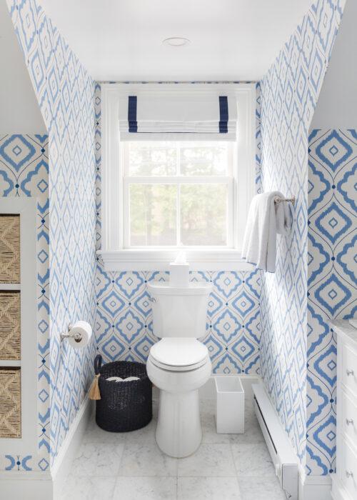 thibaut bungalow wallpaper in bathroom