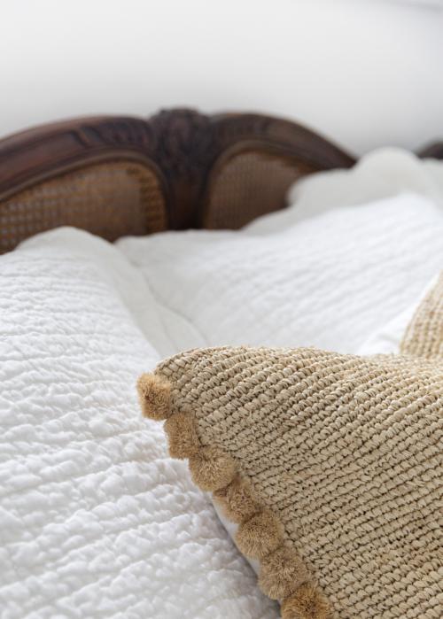 serena & lily raffia pillow